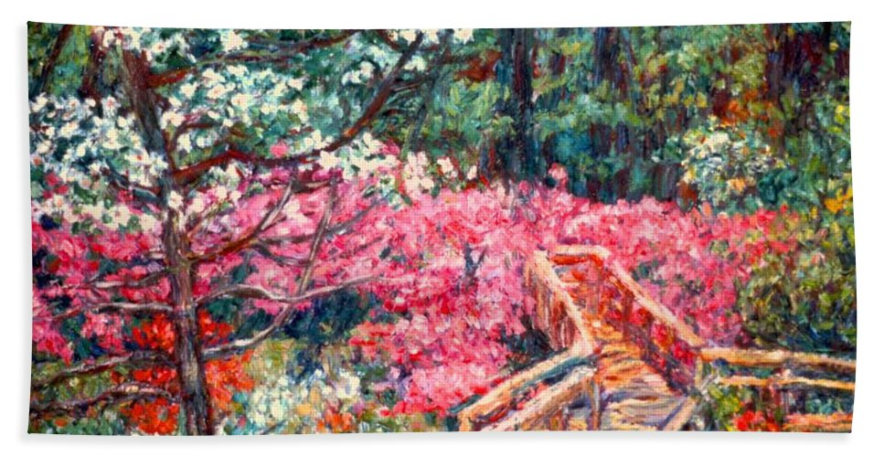 Garden Hand Towel featuring the painting Roanoke Beauty by Kendall Kessler