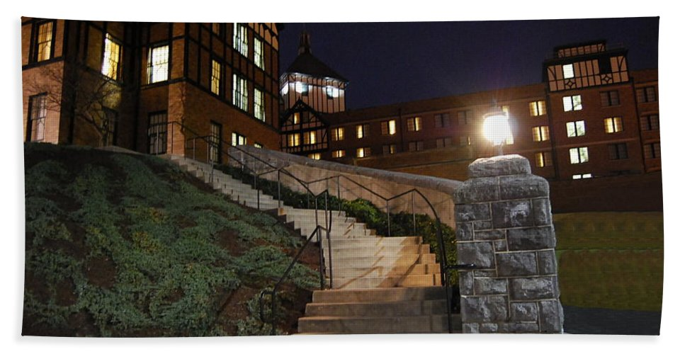 Steps Bath Sheet featuring the photograph Roanoke Steps by Eric Liller