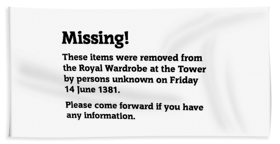 Guards Hand Towel featuring the photograph Robbery At The Tower Of London by Two Small Potatoes
