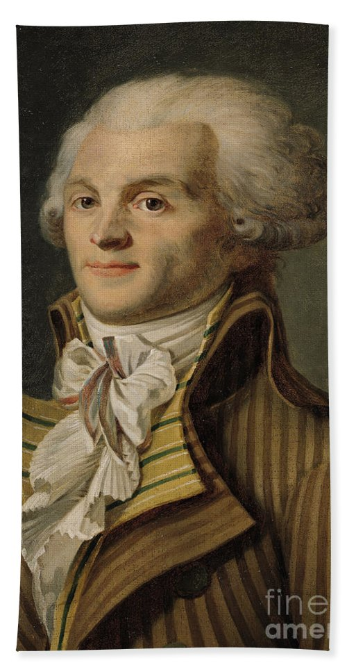 Robespierre Hand Towel featuring the painting Robespierre by French School