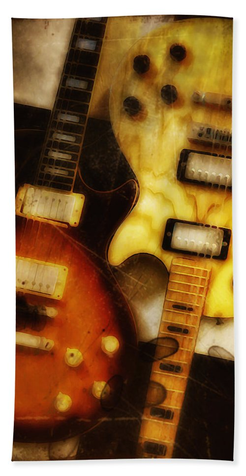 Les Paul Bath Sheet featuring the photograph Rock And Roll Never Forgets by Bill Cannon