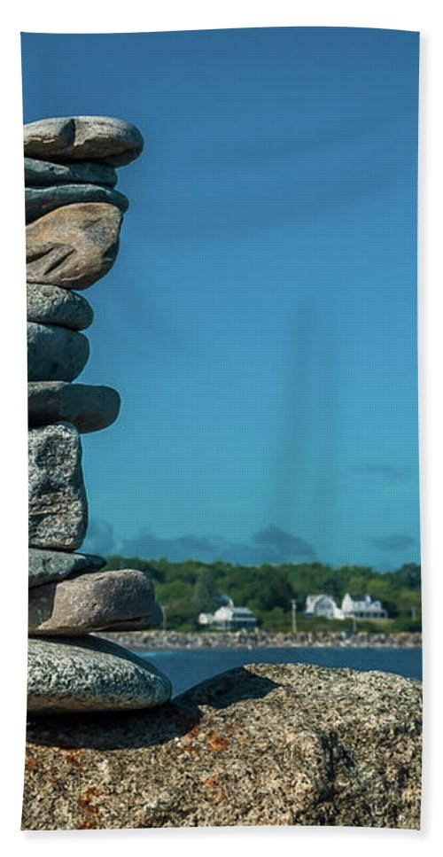Zen Hand Towel featuring the photograph Rock Art A Memory by Rebecca Bryson