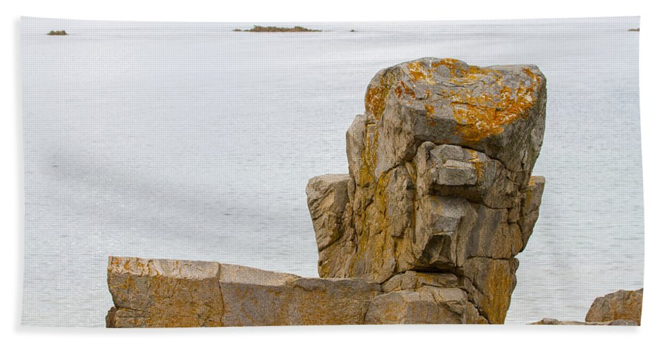 Clare Bambers Bath Sheet featuring the photograph Rock Face by Clare Bambers