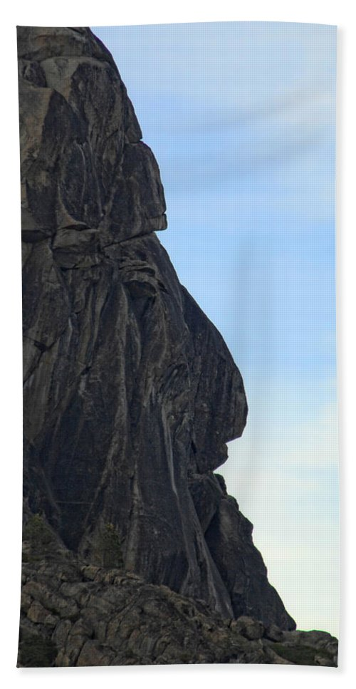 Rock Hand Towel featuring the photograph Rock Face by Donna Blackhall
