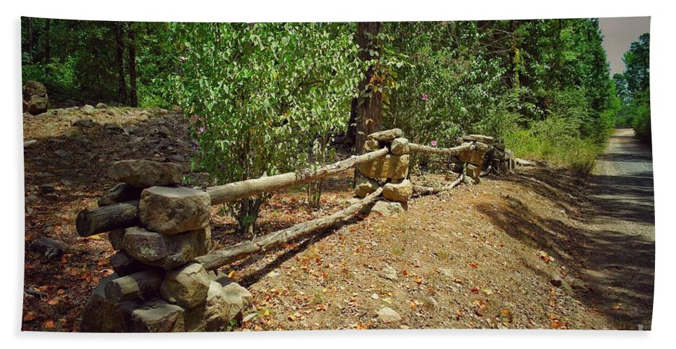 Rock Fence Bath Sheet featuring the photograph Rock Fence by John Myers
