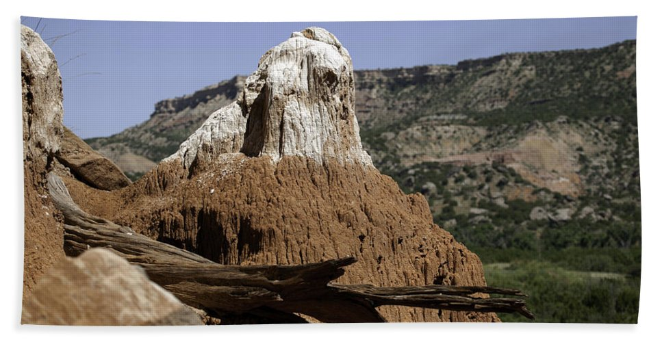 Rock Hand Towel featuring the photograph Rock Formations by Scott Sanders
