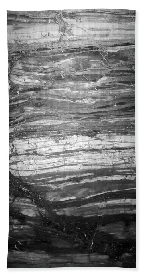 Rock Bath Sheet featuring the photograph Rock Lines B W by Rob Hans