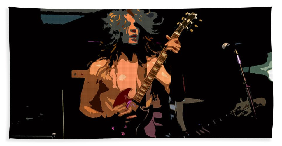 Rock N Roll Hand Towel featuring the painting Rock N Roll by David Lee Thompson