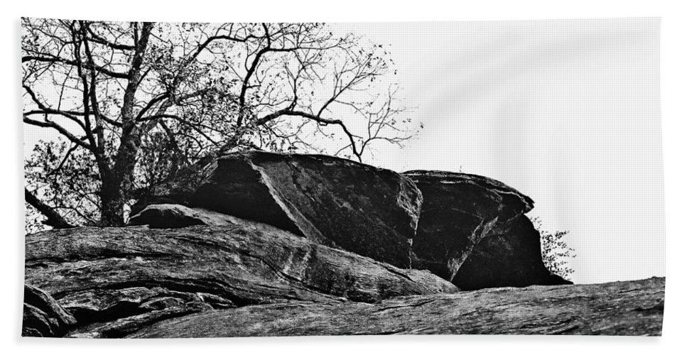 Landscape Bath Towel featuring the photograph Rock Wave by Steve Karol