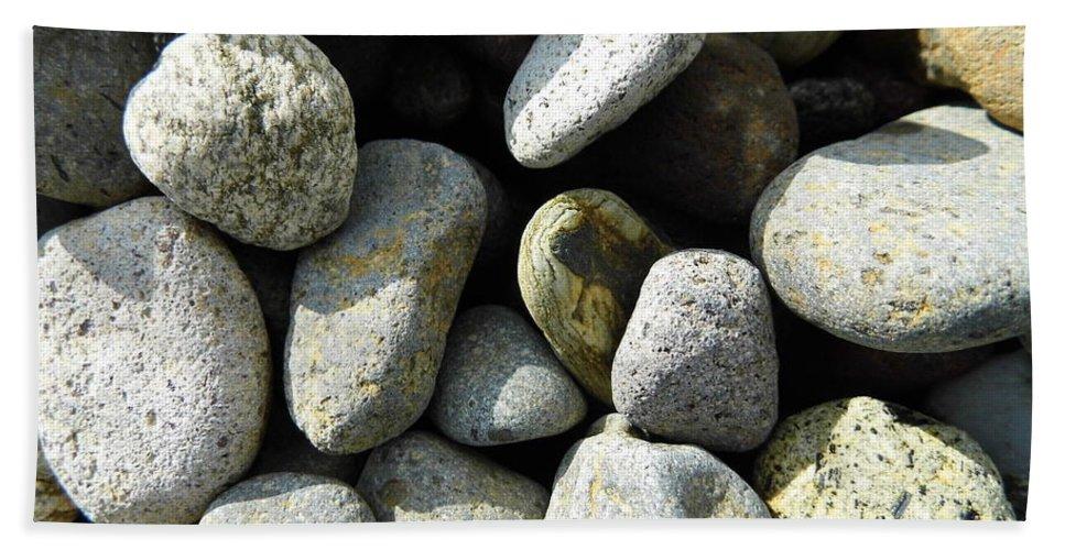 Rock Bath Towel featuring the digital art Rocks by Palzattila