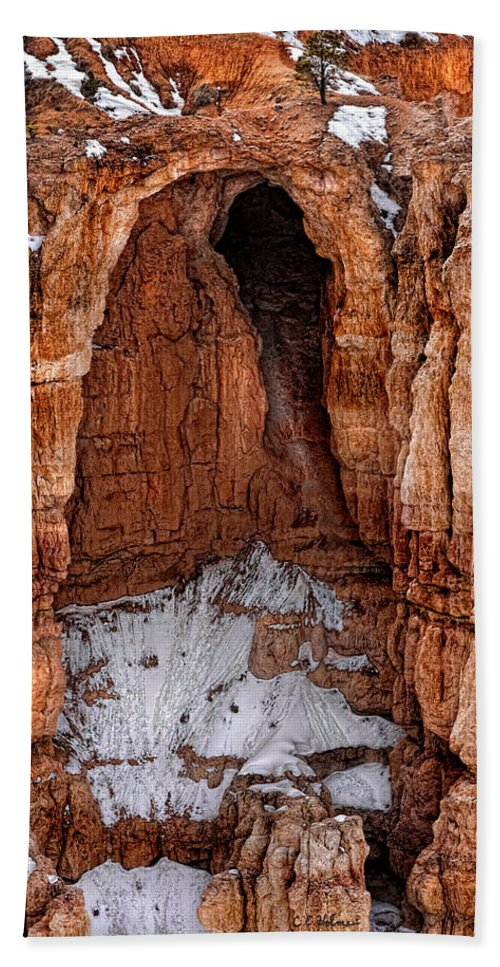 Art Hand Towel featuring the photograph Rocky Alcove by Christopher Holmes