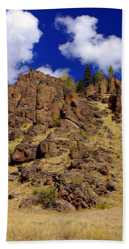 Colorado Bath Sheet featuring the photograph Rocky Butte by Marty Koch