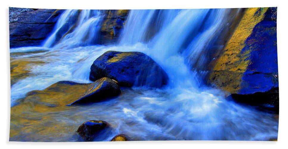 Cascade Bath Sheet featuring the photograph Rocky Mountain Cascade by Scott Mahon