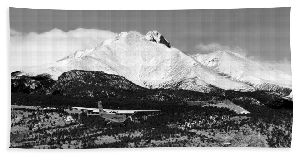 Aircraft Bath Sheet featuring the photograph Rocky Mountain Flying by James BO Insogna