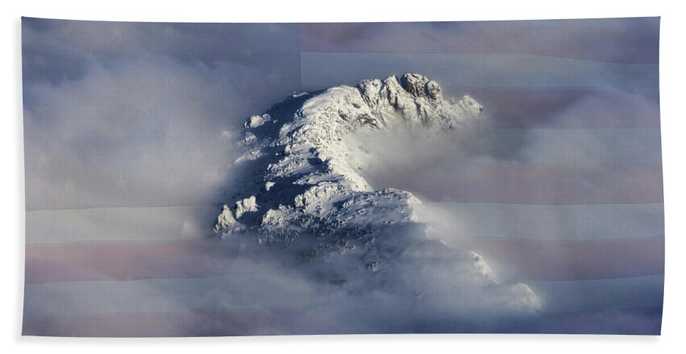 Rocky Mountains Bath Towel featuring the photograph Rocky Mountain High - America The Beautiful by James BO Insogna