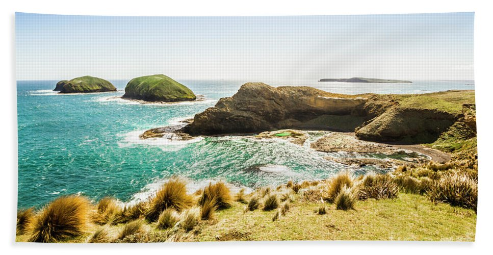 Landscape Hand Towel featuring the photograph Rocky Ocean Capes by Jorgo Photography - Wall Art Gallery