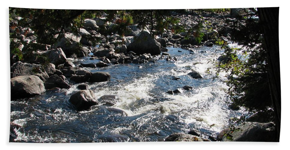 Water Hand Towel featuring the photograph Rocky Rapids by Kelly Mezzapelle