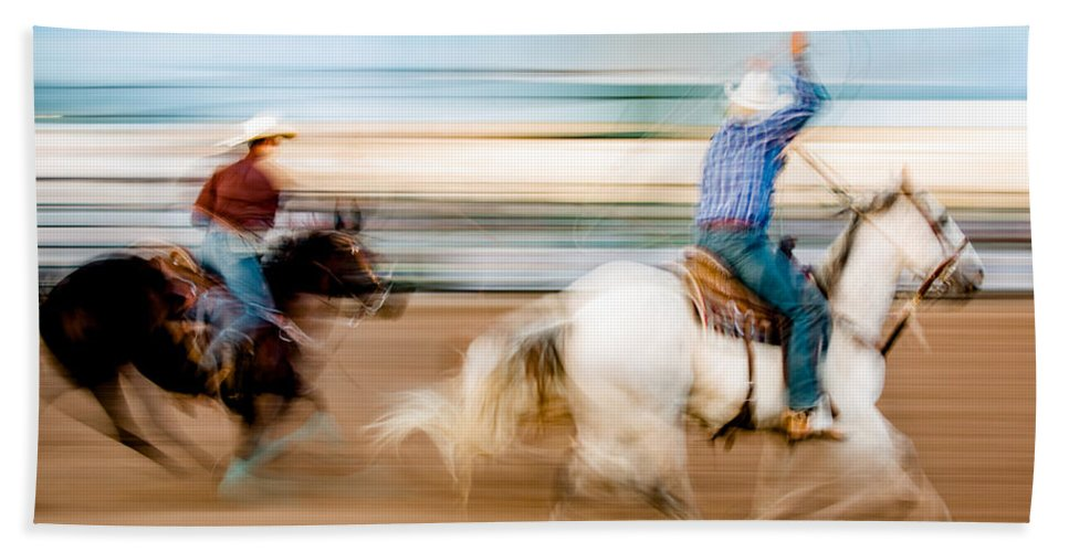 Rodeo Bath Towel featuring the photograph Rodeo Dreams by Todd Klassy