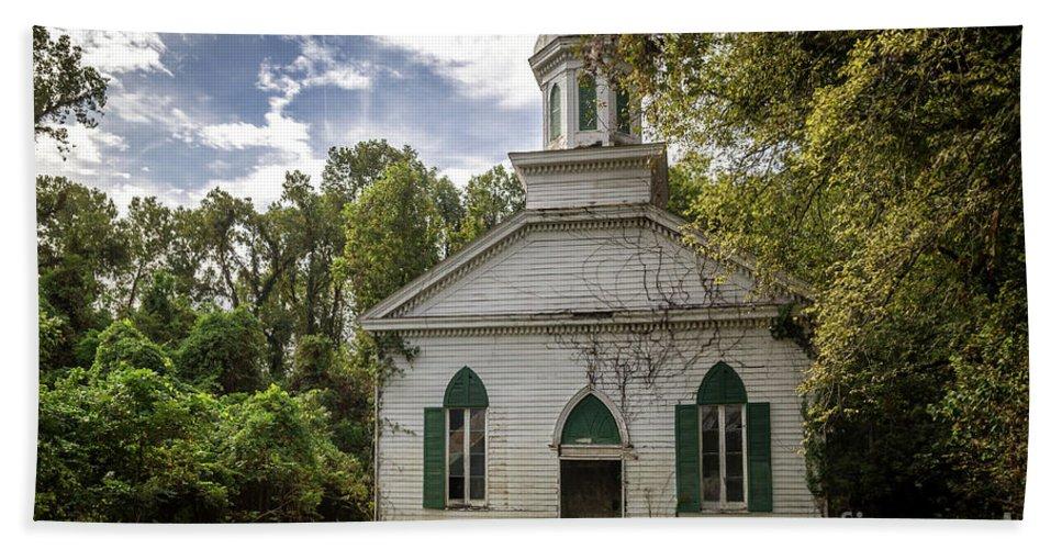 Historical Bath Sheet featuring the photograph Rodney Baptist Church by Joan McCool
