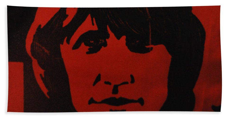 Abstract Bath Sheet featuring the photograph Roger Waters by Rob Hans