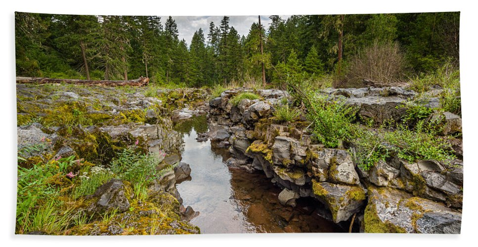 Rogue River Bath Sheet featuring the photograph Rogue River Near Union Creek by Greg Nyquist