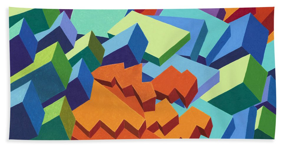 Oilpastel Hand Towel featuring the painting Rolling Hills by Sean Corcoran