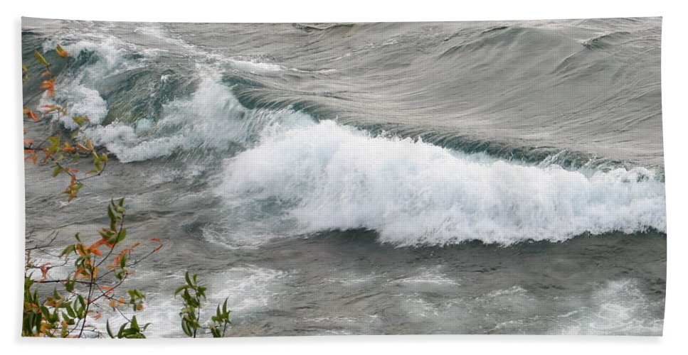 Wave Hand Towel featuring the photograph Rolling by Kelly Mezzapelle