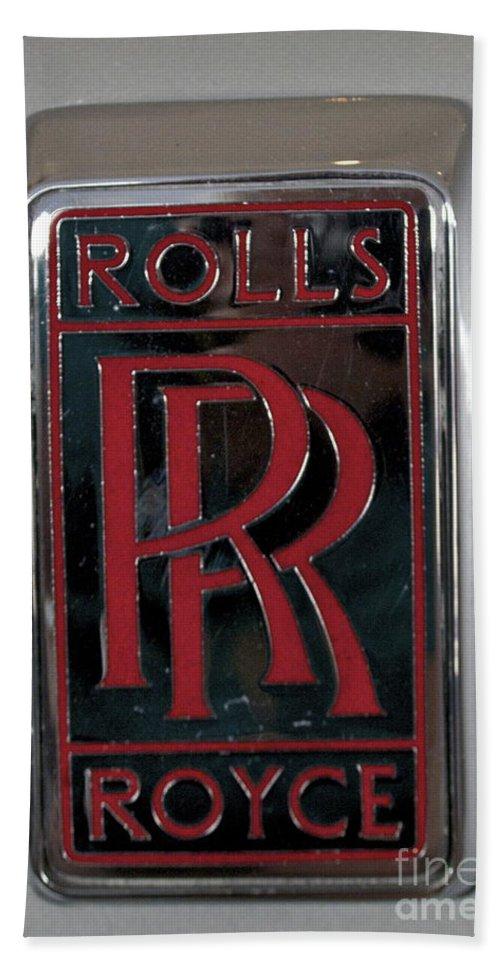 Rolls Royce Emblem Bath Sheet featuring the photograph Rolls Royce by Pamela Walrath
