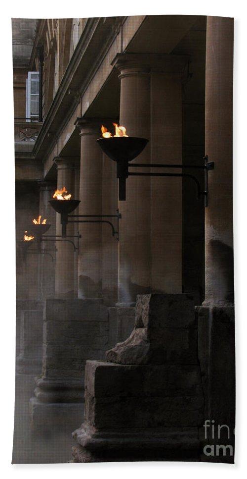 Bath Bath Sheet featuring the photograph Roman Baths by Amanda Barcon