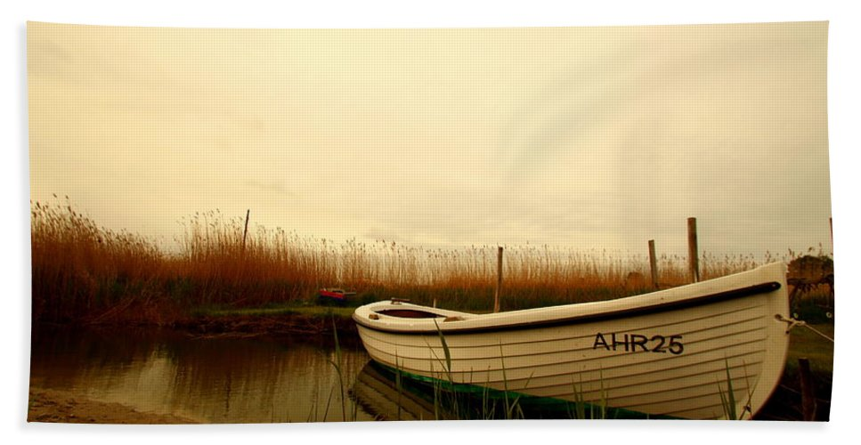 Baltic Sea Bath Sheet featuring the photograph Romantic Boat by Heike Hultsch