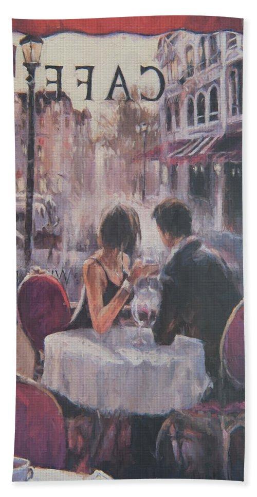 Adultery Bath Sheet featuring the digital art Romantic Meeting 2 by Roy Pedersen