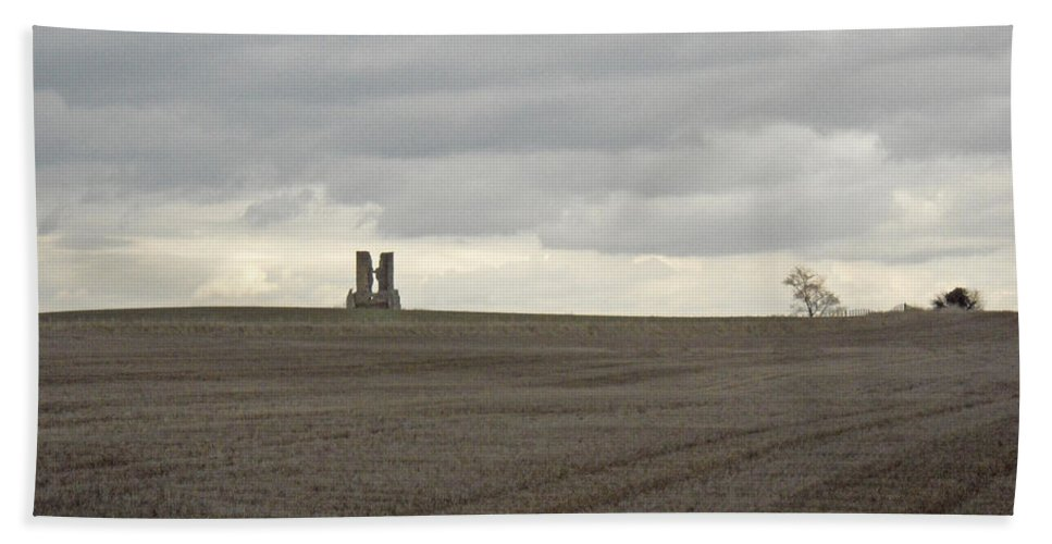 England Hand Towel featuring the photograph Romantic Ruins by Julia Raddatz