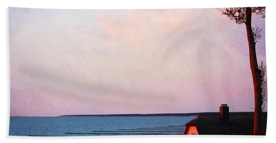 Baltic Sea Bath Sheet featuring the photograph Romantic Sunset by Heike Hultsch