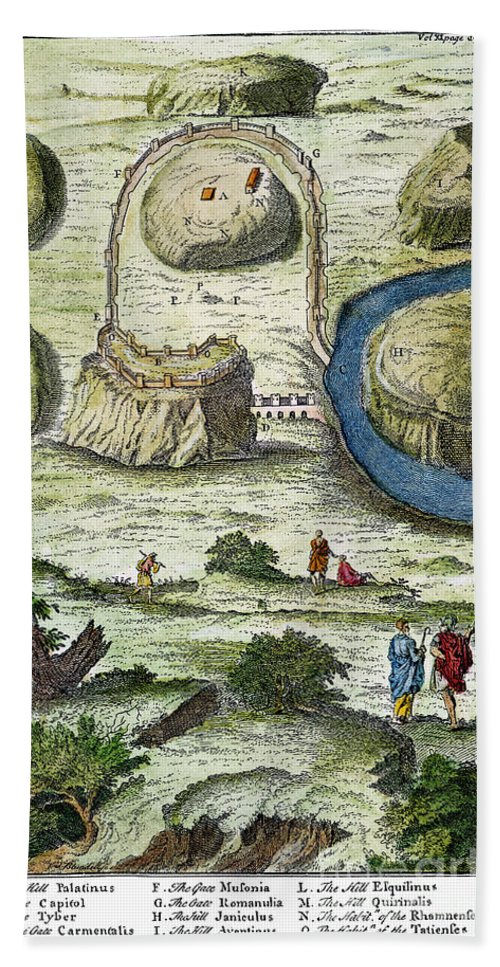 18th Century Hand Towel featuring the photograph Rome: Seven Hills, 18th C by Granger
