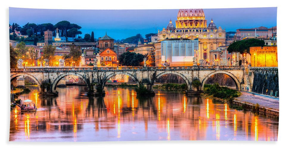 Rome Bath Sheet featuring the photograph Rome - St Peter by Luciano Mortula