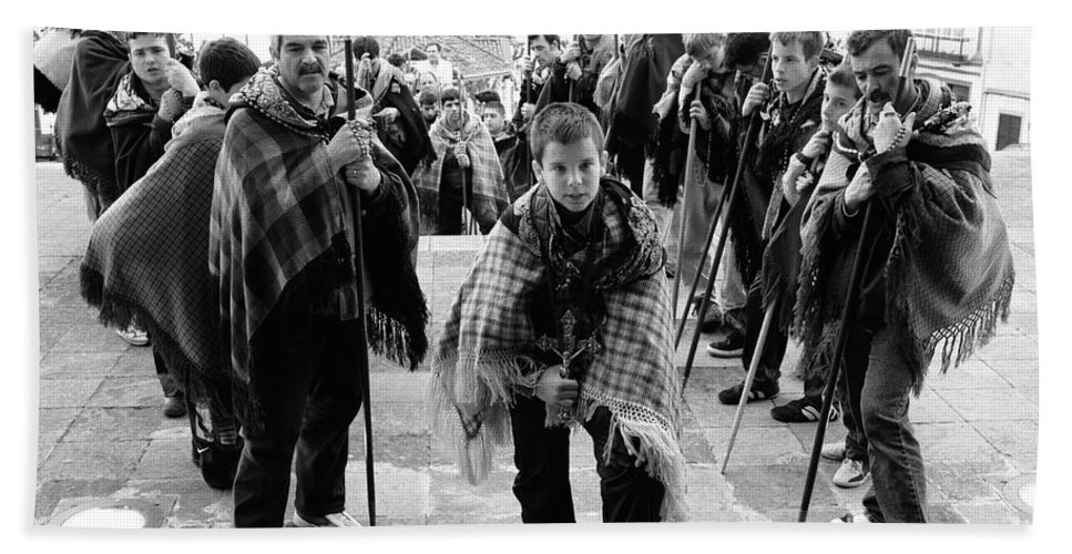 Group Hand Towel featuring the photograph Romeiros Pilgrims by Gaspar Avila