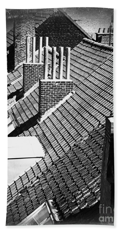 Rooftops Hand Towel featuring the photograph Rooftops Of Belgium Gothic Style by Carol Groenen