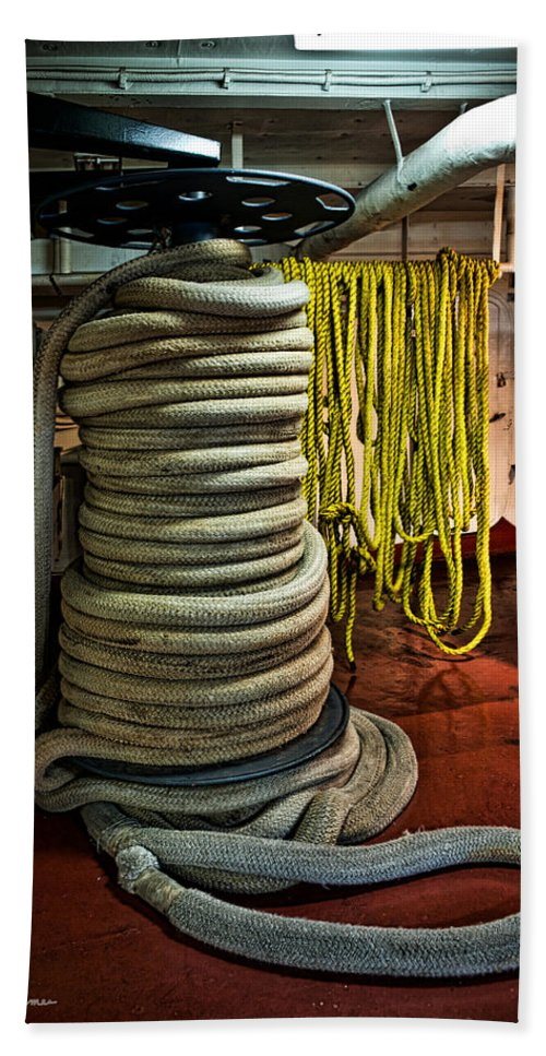Ropes Hand Towel featuring the photograph Ropes by Christopher Holmes
