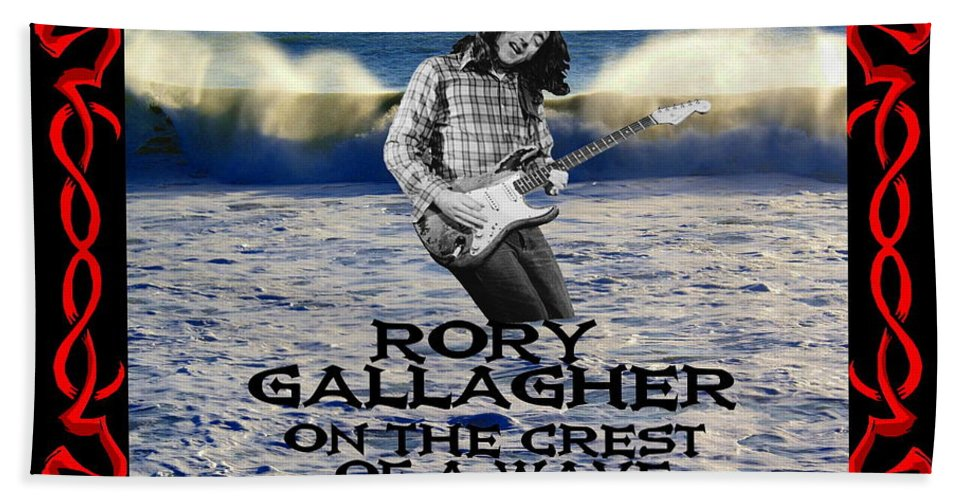 Rory Gallagher Hand Towel featuring the photograph Crest Of A Wave 3 by Ben Upham