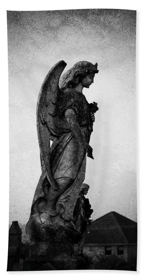 Roscommon Bath Sheet featuring the photograph Roscommonn Angel No 4 by Teresa Mucha