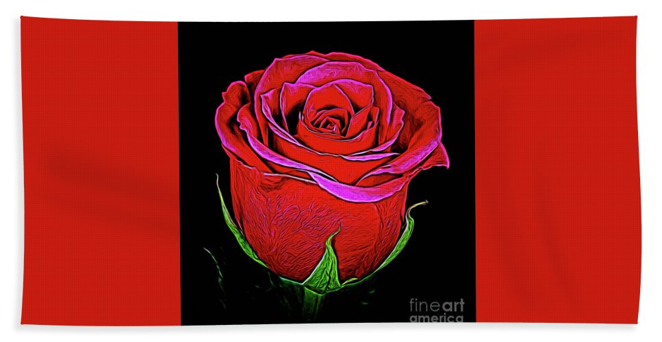 Rose 18-9 Hand Towel featuring the photograph Rose 18-9 by Ray Shrewsberry