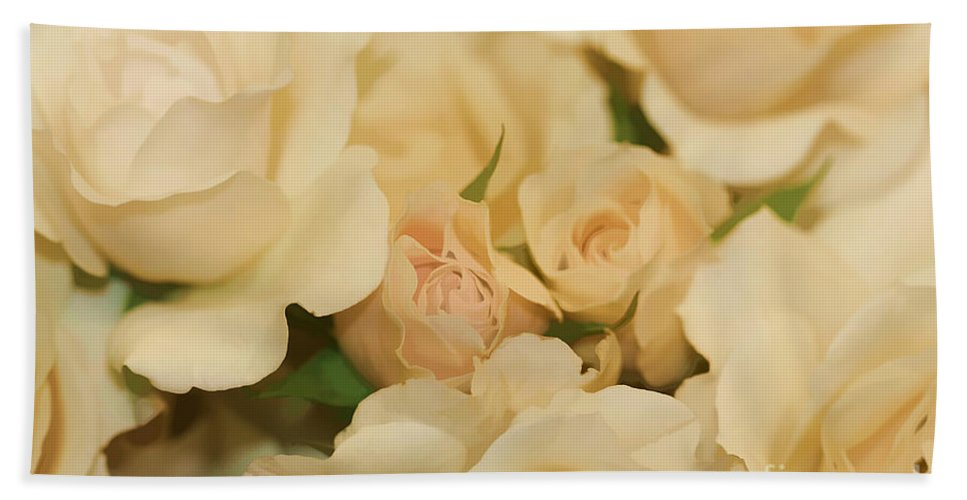 White Bath Sheet featuring the photograph Rose Bouquet by Deborah Benoit