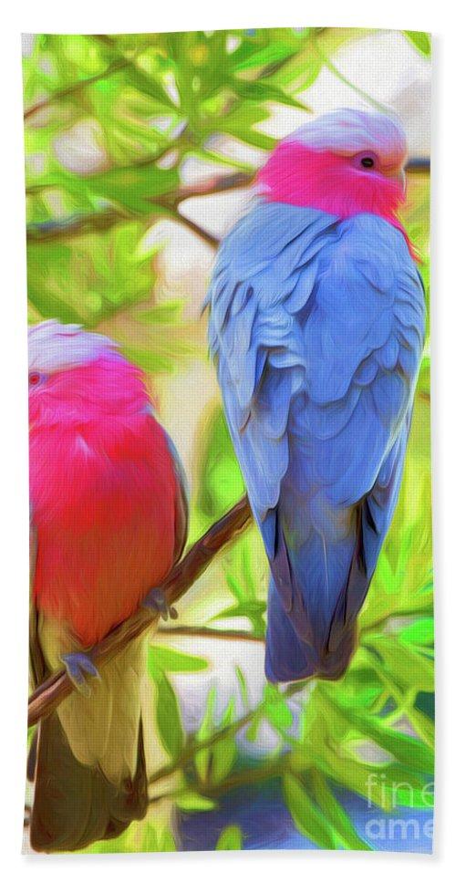 Galahs Bath Sheet featuring the photograph Rose cockatoos by Sheila Smart Fine Art Photography