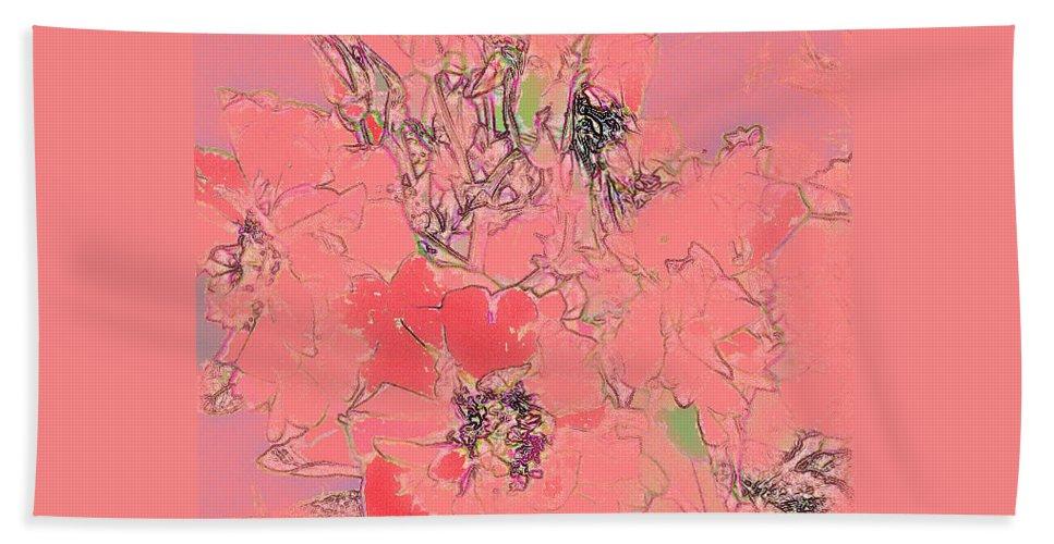 Rose Bath Sheet featuring the digital art Rose Diffused by Ian MacDonald