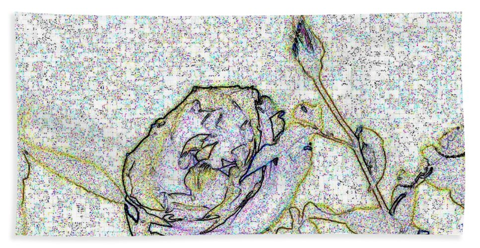 Rose Hand Towel featuring the photograph Rose For U by Tim Allen