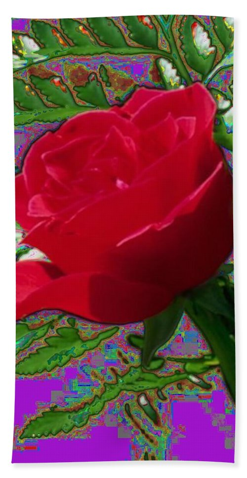 Rose Hand Towel featuring the photograph Rose For You by Tim Allen