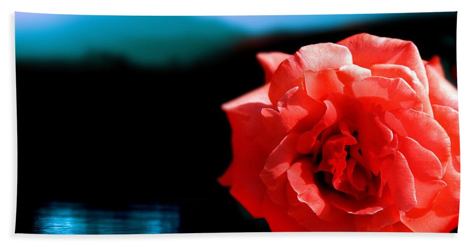 Rose Bath Towel featuring the photograph Rose Lake by Mal Bray