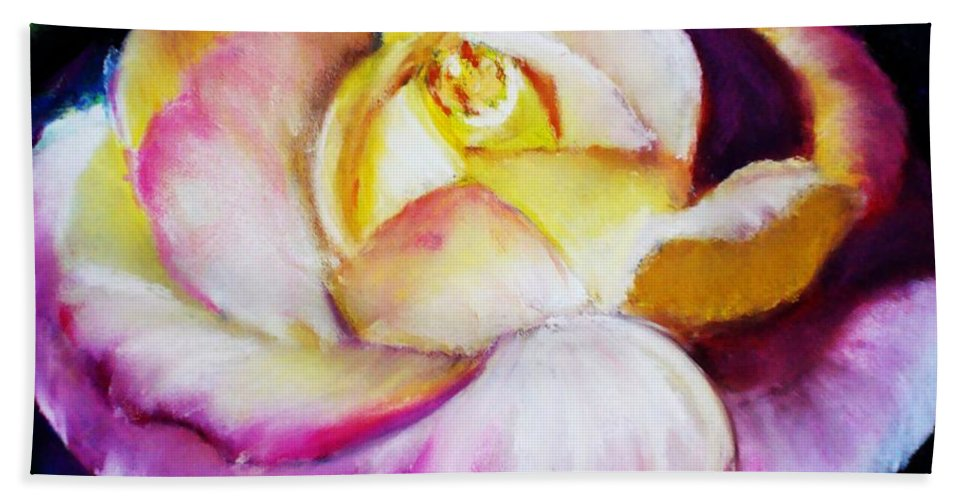 Rose Hand Towel featuring the print Rose by Melinda Etzold