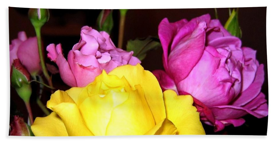Roses Hand Towel featuring the photograph Roses 4 by Will Borden