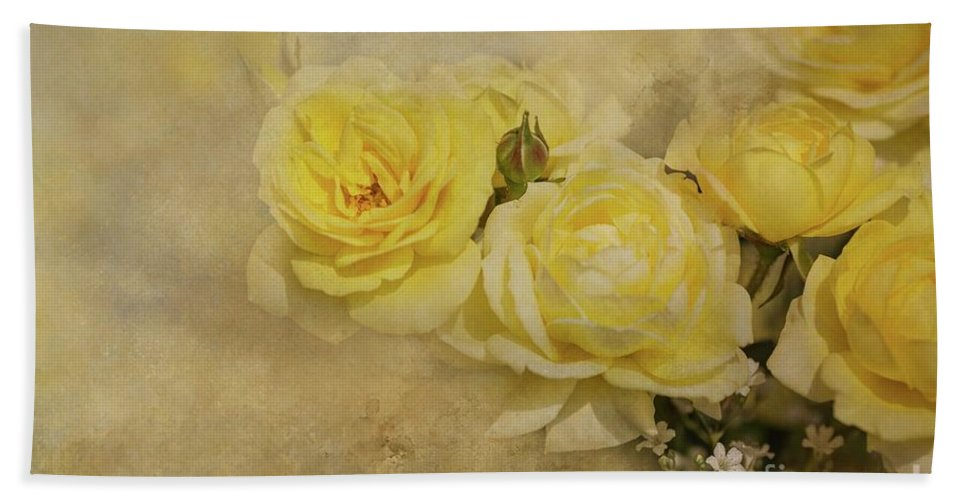 Roses Hand Towel featuring the photograph Roses Delight by Eva Lechner